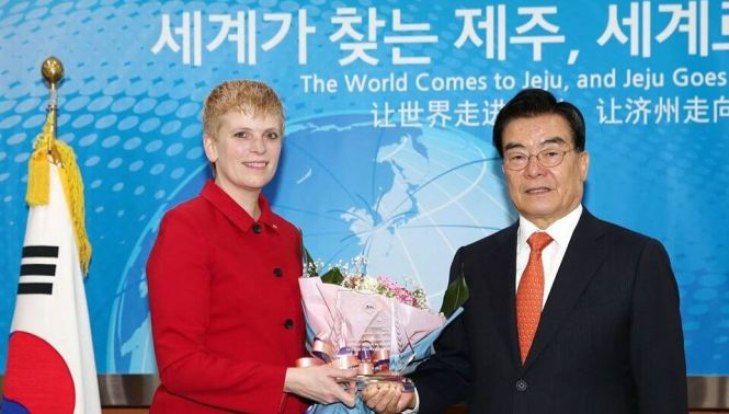 with Jeju governor